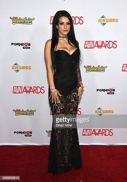 Adult film actress Katrina Jade attends the 2016 Adult Video News Awards at the Hard Rock Hotel Casino on January 23 2016 in Las Vegas Nevada