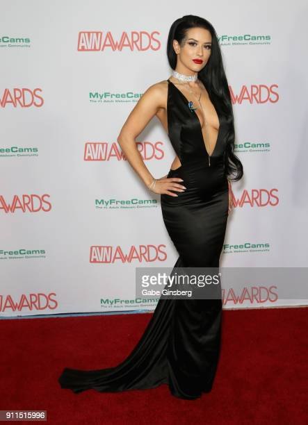 Adult film actress Katrina Jade attends the 2018 Adult Video News Awards at the Hard Rock Hotel Casino on January 27 2018 in Las Vegas Nevada