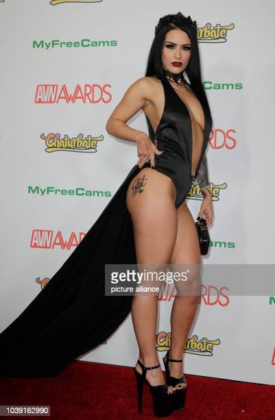 Adult film actress Katrina Jade attends the Adult Video News Awards AVN Awards at Hard Rock Hotel Casino in Las Vegas Nevada USA on 21 January 2017...