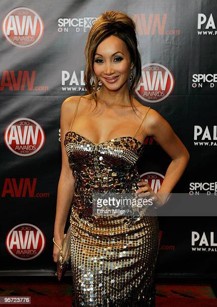 Adult film actress Katsuni arrives at the 27th annual Adult Video News Awards Show at the Palms Casino Resort January 9 2010 in Las Vegas Nevada