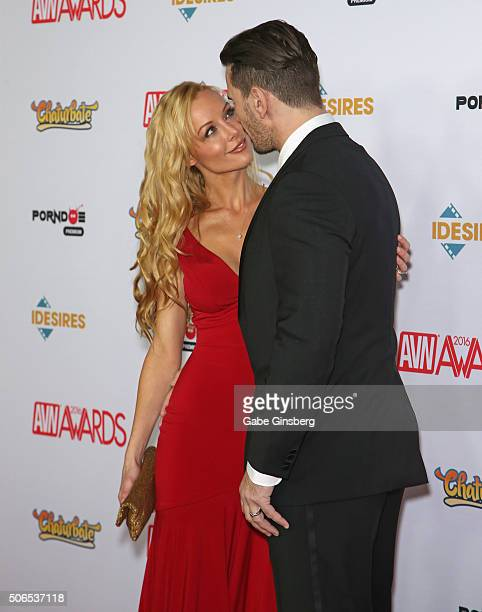 Adult film actress Kayden Kross and adult film actor/director Manuel Ferrara attend the 2016 Adult Video News Awards at the Hard Rock Hotel Casino on...