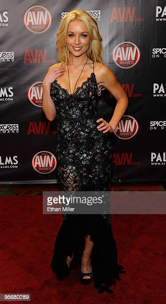 Adult film actress Kayden Kross arrives at the 27th annual Adult Video News Awards Show at the Palms Casino Resort January 9 2010 in Las Vegas Nevada
