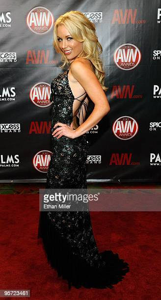 Adult film actress Kayden Kross arrives at the 27th annual Adult Video News Awards Show at the Palms Casino Resort January 9, 2010 in Las Vegas,...
