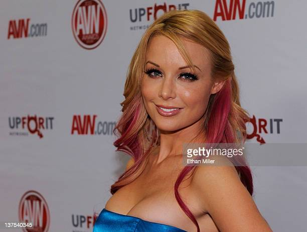Adult film actress Kayden Kross arrives at the 29th annual Adult Video News Awards Show at the Hard Rock Hotel Casino January 21 2012 in Las Vegas...