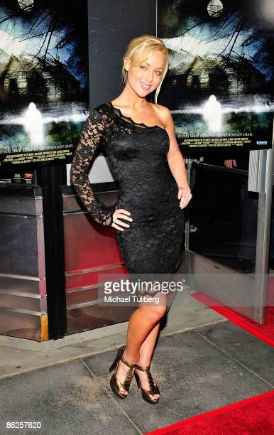 """Adult film actress Kayden Kross arrives at the premiere of Jeremy's new film """"One-Eyed Monster"""", held at the Fine Arts Theater on April 27, 2009 in..."""