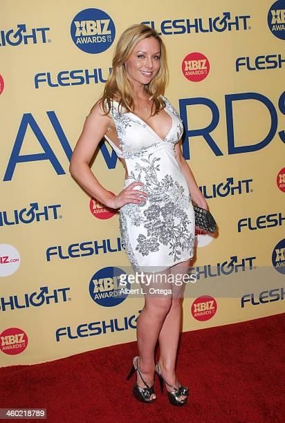 Adult film actress Kayden Kross arrives for the 2013 XBIZ Awards held at the Hyatt Regency Century Plaza on January 11 2013 in Century City California