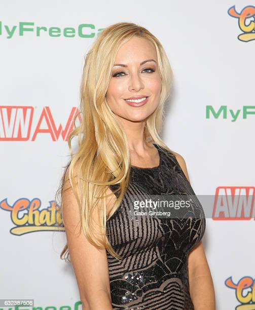 Adult film actress Kayden Kross attends the 2017 Adult Video News Awards at the Hard Rock Hotel Casino on January 21 2017 in Las Vegas Nevada
