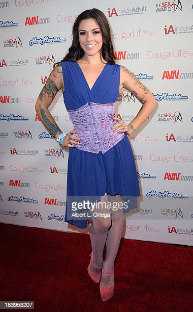 Adult film actress Kayla Jane Danger arrives for The 1st Annual Sex Awards 2013 held at Avalon on October 9 2013 in Hollywood California