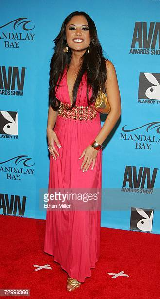 Adult film actress Kaylani Lei arrives at the 24th annual Adult Video News Awards Show at the Mandalay Bay Events Center January 13, 2007 in Las...