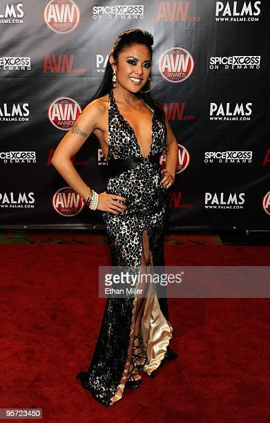 Adult film actress Kaylani Lei arrives at the 27th annual Adult Video News Awards Show at the Palms Casino Resort January 9 2010 in Las Vegas Nevada