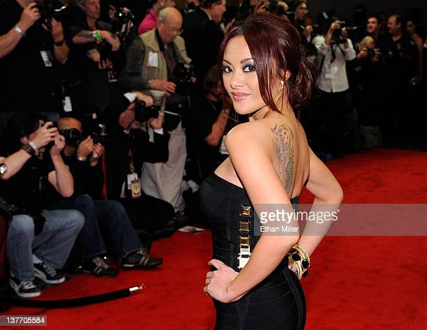 Adult film actress Kaylani Lei arrives at the 29th annual Adult Video News Awards Show at the Hard Rock Hotel Casino January 21 2012 in Las Vegas...