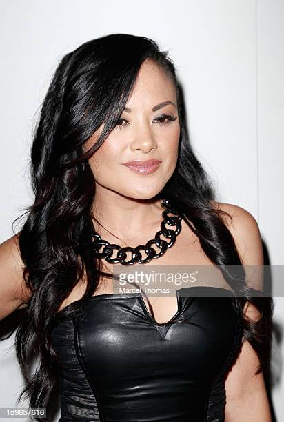 Adult film actress Kaylani Lei attends the official AVN Awards preparty at the Tao Nightclub at The Venetian on January 17 2013 in Las Vegas Nevada
