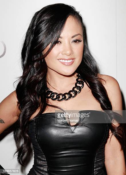 Adult film actress Kaylani Lei attends the official AVN Awards pre-party at the Tao Nightclub at The Venetian on January 17, 2013 in Las Vegas,...