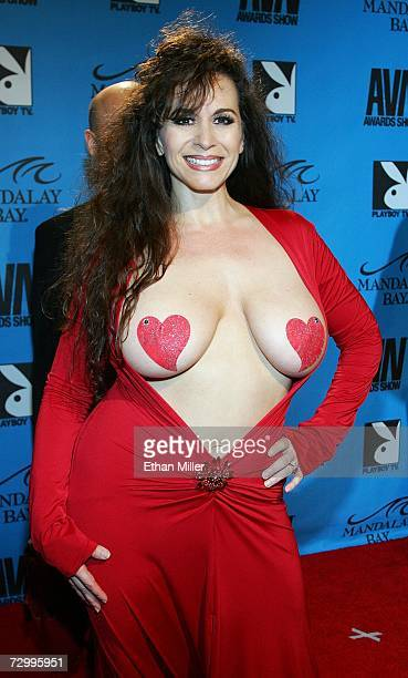 Adult film actress Keisha arrives at the 24th annual Adult Video News Awards Show at the Mandalay Bay Events Center January 13 2007 in Las Vegas...