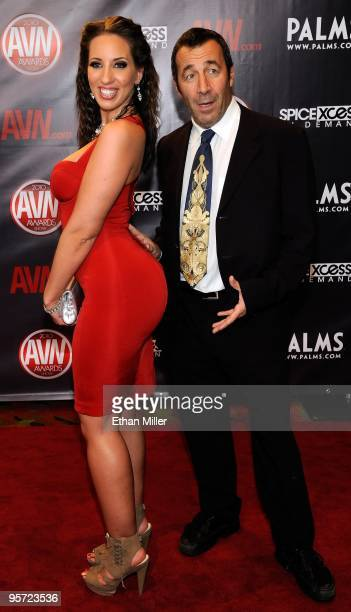 Adult film actress Kelly Divine and adult film producer/director John Stagliano arrive at the 27th annual Adult Video News Awards Show at the Palms...