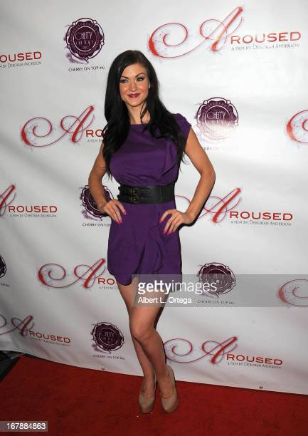 Adult film actress Kendall Karson arrives for the Premiere Of 'Aroused' held at Landmark Nuart Theatre on May 1 2013 in Los Angeles California