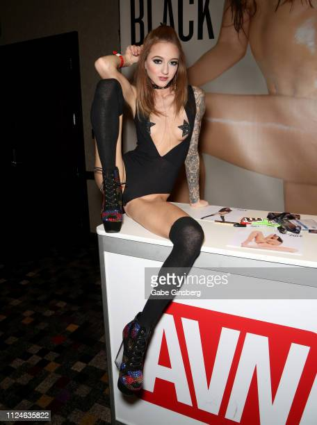 Adult film actress Kendra Cole poses at the 2019 AVN Adult Entertainment Expo at the Hard Rock Hotel Casino on January 24 2019 in Las Vegas Nevada