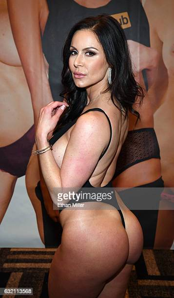 Adult film actress Kendra Lust appears at the Pornhub booth at the 2017 AVN Adult Entertainment Expo at the Hard Rock Hotel & Casino on January 18,...