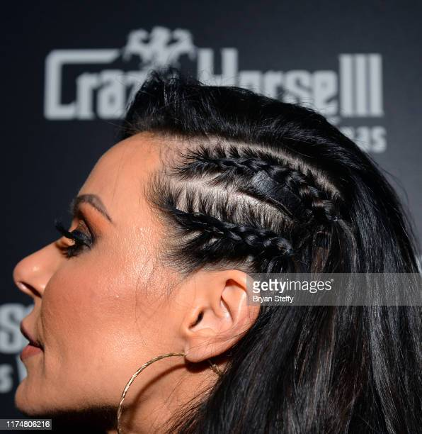 Adult film actress Kendra Lust hair detail celebrates her birthday at the Crazy Horse 3 Gentlemen's Club on September 14 2019 in Las Vegas Nevada