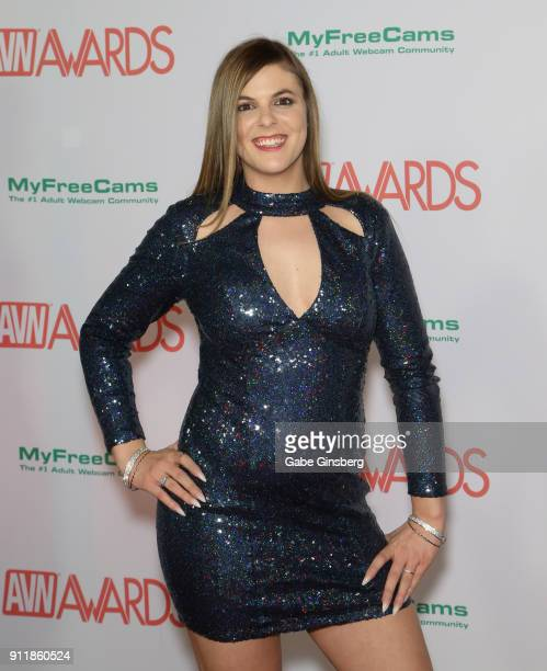 Adult film actress Kendra Lynn attends the 2018 Adult Video News Awards at the Hard Rock Hotel Casino on January 27 2018 in Las Vegas Nevada