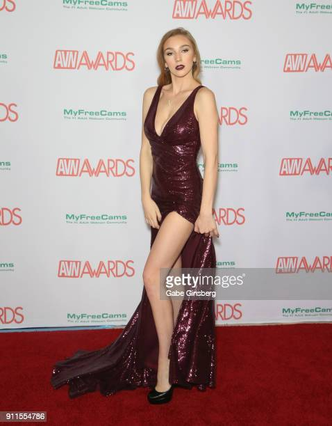 Adult film actress Kendra Sunderland attends the 2018 Adult Video News Awards at the Hard Rock Hotel Casino on January 27 2018 in Las Vegas Nevada