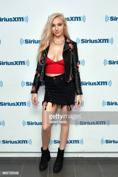 Adult film actress Kendra Sunderland visits SiriusXM Studios on June 6 2018 in New York City