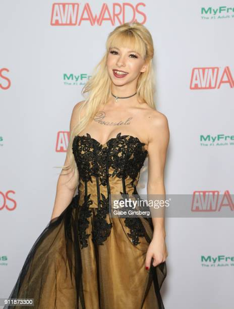 Adult film actress Kenzie Reeves attends the 2018 Adult Video News Awards at the Hard Rock Hotel Casino on January 27 2018 in Las Vegas Nevada
