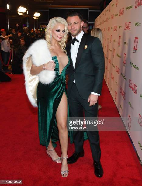 Adult film actress Kenzie Taylor and adult film actor Seth Gamble attend the 2020 Adult Video News Awards at The Joint inside the Hard Rock Hotel...