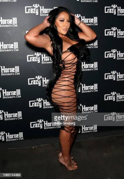 Adult film actress Kiara Mia arrives at the Crazy Horse 3 Gentlemen's Club to host a party on November 10, 2018 in Las Vegas, Nevada.