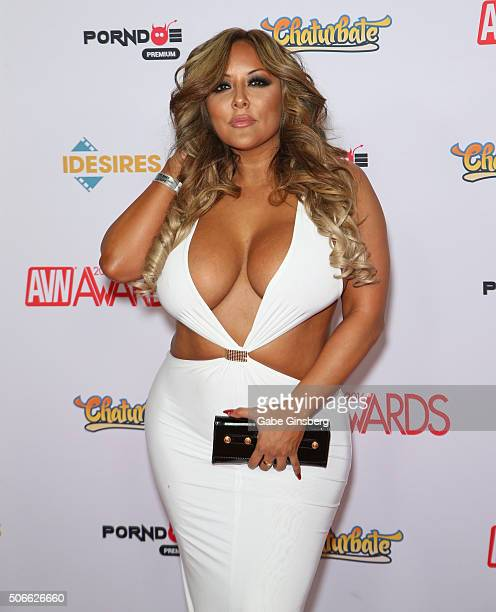 Adult film actress Kiara Mia attends the 2016 Adult Video News Awards at the Hard Rock Hotel Casino on January 23 2016 in Las Vegas Nevada