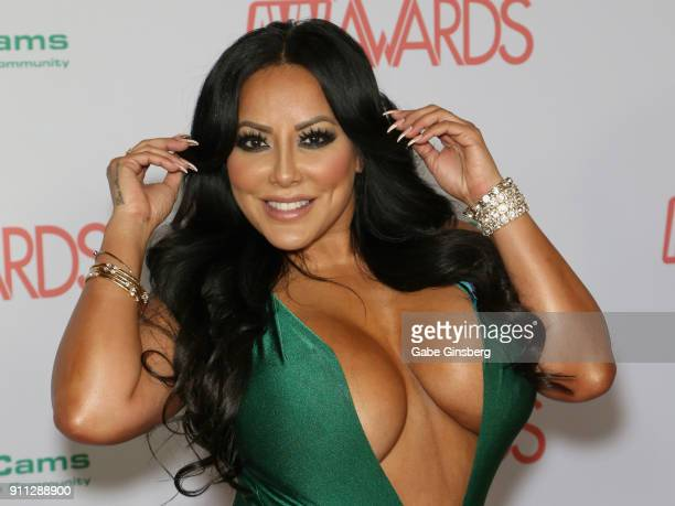 Adult film actress Kiara Mia attends the 2018 Adult Video News Awards at the Hard Rock Hotel Casino on January 27 2018 in Las Vegas Nevada