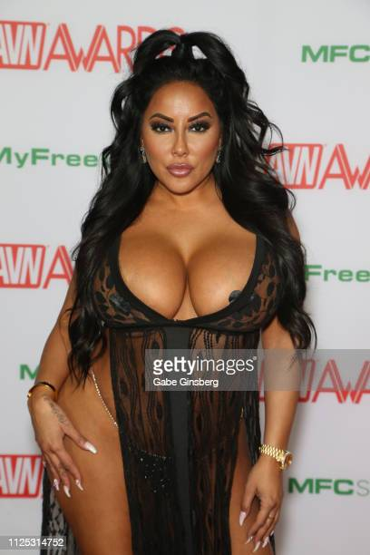 Adult film actress Kiara Mia attends the 2019 Adult Video News Awards at The Joint inside the Hard Rock Hotel & Casino on January 26, 2019 in Las...