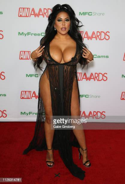 Adult film actress Kiara Mia attends the 2019 Adult Video News Awards at The Joint inside the Hard Rock Hotel Casino on January 26 2019 in Las Vegas...