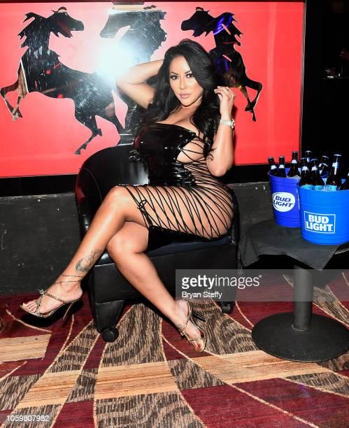 Adult film actress Kiara Mia hosts a latenight party at the Crazy Horse III Gentlemen's Club on November 9 2018 in Las Vegas Nevada