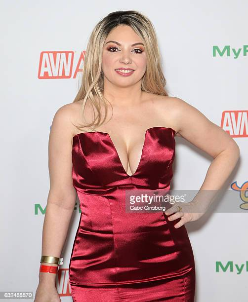 Adult film actress Kiki D'Aire attends the 2017 Adult Video News Awards at the Hard Rock Hotel Casino on January 21 2017 in Las Vegas Nevada