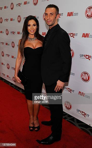 Adult film actress Kirsten Price and adult film actor Keiran Lee arrive at the 29th annual Adult Video News Awards Show at the Hard Rock Hotel Casino...