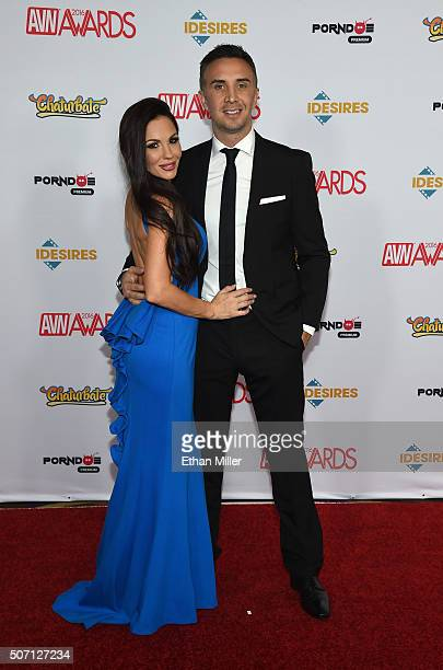Adult film actress Kirsten Price and adult film actor Keiran Lee attend the 2016 Adult Video News Awards at the Hard Rock Hotel Casino on January 23...