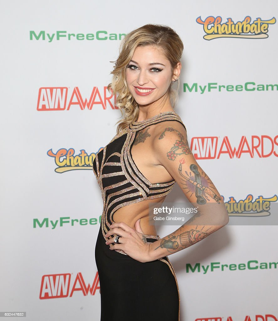 Adult Film Actress Kleio Valentien Attends The 2017 Adult Video News Awards  At The Hard Rock