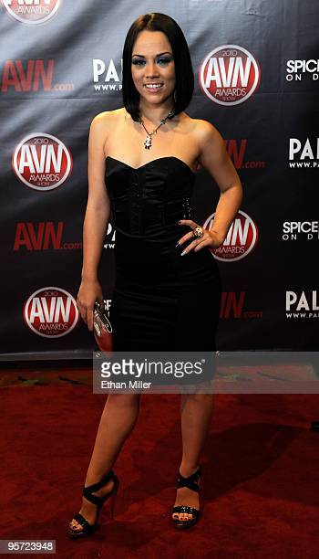 Adult film actress Kristina Rose arrives at the 27th annual Adult Video News Awards Show at the Palms Casino Resort January 9 2010 in Las Vegas Nevada