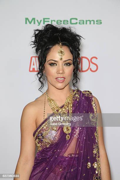 Adult film actress Kristina Rose attends the 2017 Adult Video News Awards at the Hard Rock Hotel Casino on January 21 2017 in Las Vegas Nevada