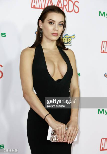 Adult film actress Lana Rhoades attends the Adult Video News Awards AVN Awards at Hard Rock Hotel Casino in Las Vegas Nevada USA on 21 January 2017...