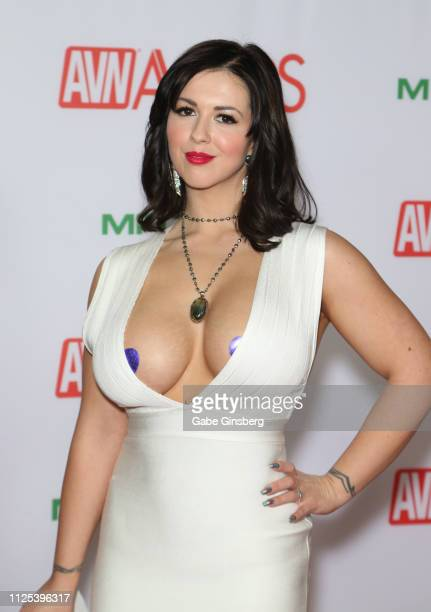 Adult film actress Larkin Love attends the 2019 Adult Video News Awards at The Joint inside the Hard Rock Hotel Casino on January 26 2019 in Las...