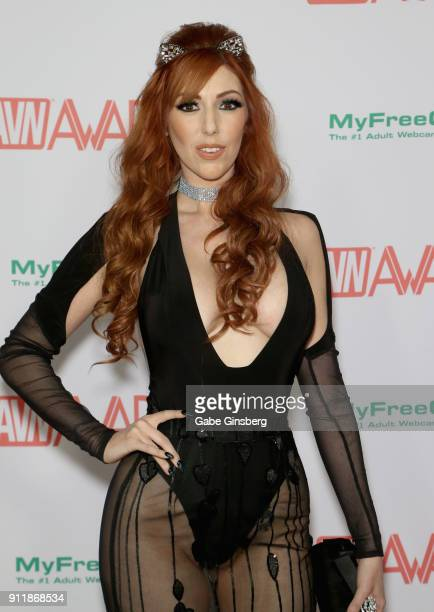 Adult film actress Lauren Phillips attends the 2018 Adult Video News Awards at the Hard Rock Hotel Casino on January 27 2018 in Las Vegas Nevada