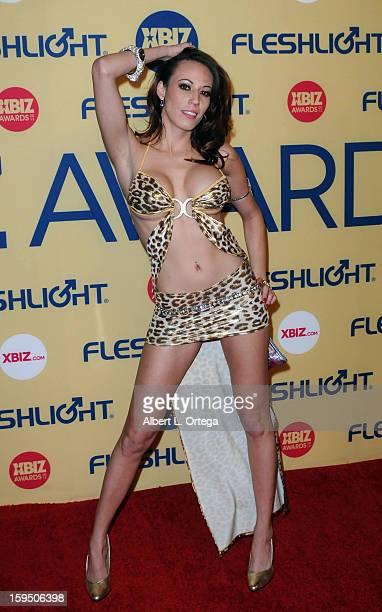 Adult Film actress Layla Rivera arrives for the 2013 XBIZ Awards held at the Hyatt Regency Century Plaza on January 11 2013 in Century City California