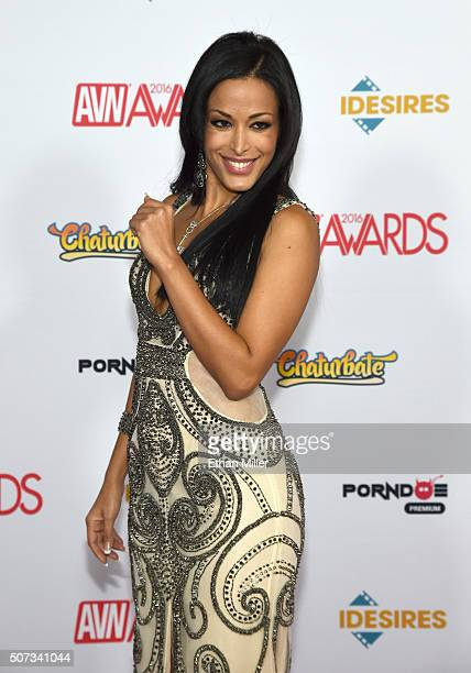 Adult Film Actress Layla Sin Attends The 2016 Adult Video News Awards At The Hard Rock