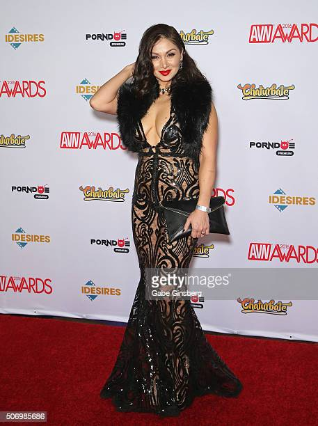 Adult film actress Lea Lexis attends the 2016 Adult Video News Awards at the Hard Rock Hotel Casino on January 23 2016 in Las Vegas Nevada