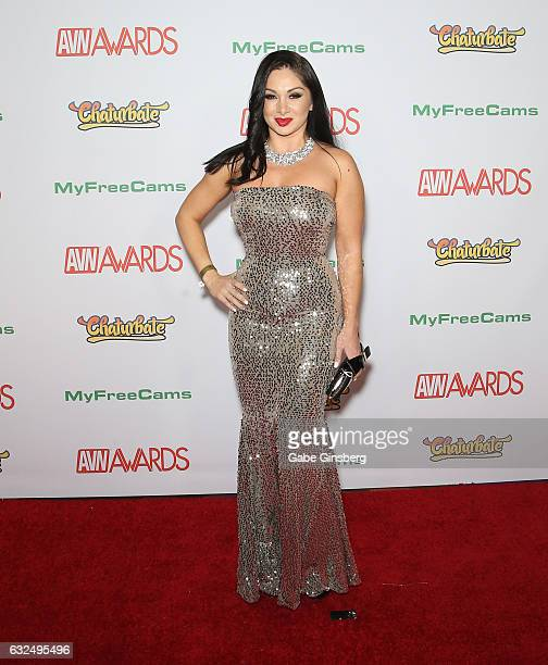 Adult film actress Lea Lexis attends the 2017 Adult Video News Awards at the Hard Rock Hotel Casino on January 21 2017 in Las Vegas Nevada