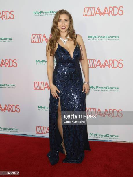 Adult film actress Lena Paul attends the 2018 Adult Video News Awards at the Hard Rock Hotel Casino on January 27 2018 in Las Vegas Nevada