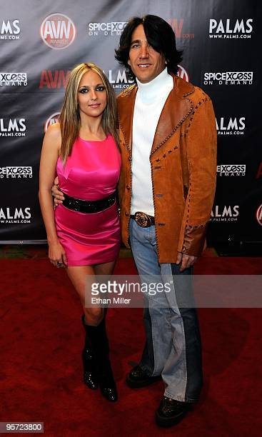 Adult film actress Lexi Love and Scott David arrive at the 27th annual Adult Video News Awards Show at the Palms Casino Resort January 9 2010 in Las...