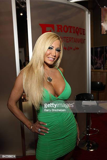 Adult film actress Lexxie Lyle attends the 2009 AVN Adult Entertainment Expo at the Sands Expo Convention Center on January 9 2009 in Las Vegas Nevada